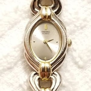 Vintage Seiko Two Tone Quartz Watch Bracelet